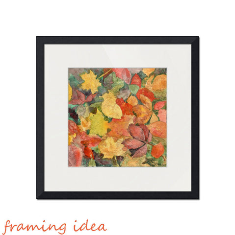 Autumn Leaves, Fine Art Print