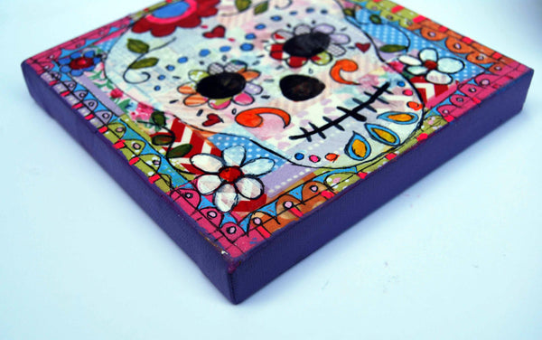 Sugar Skull I, Original Mixed Media Art