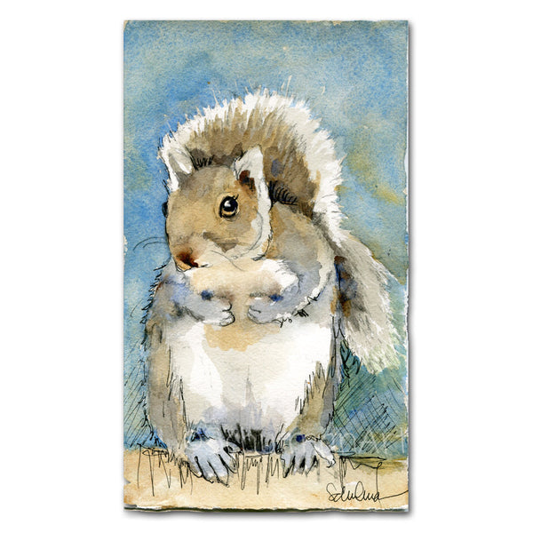 Tilly the Squirrel, Original Watercolor Art