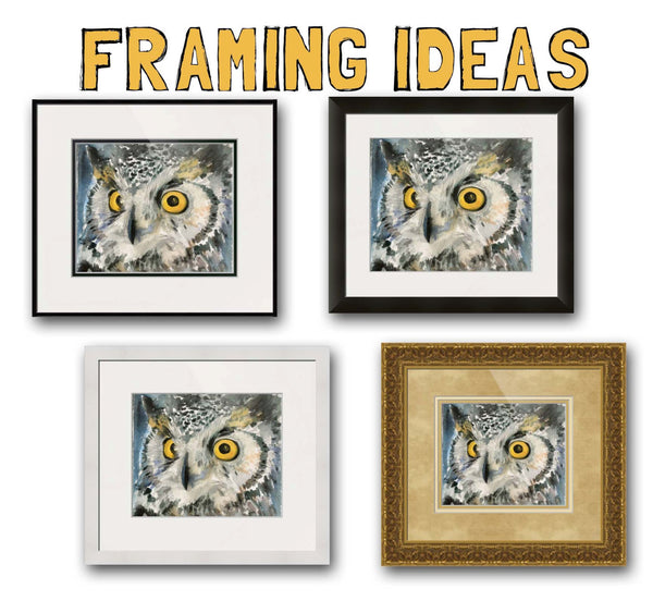 Great Horned Owl - Golden Eyes, Fine Art Print