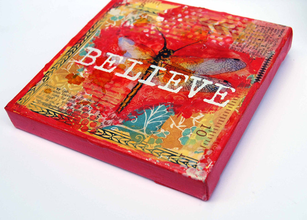Believe, Original Mixed Media Art