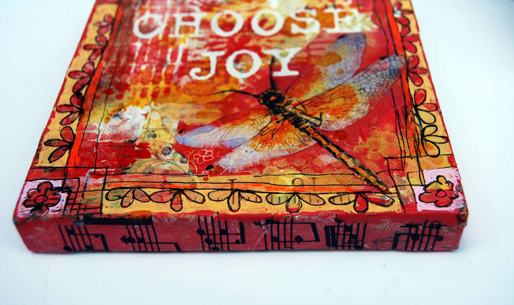 Choose Joy, Original Mixed Media Art