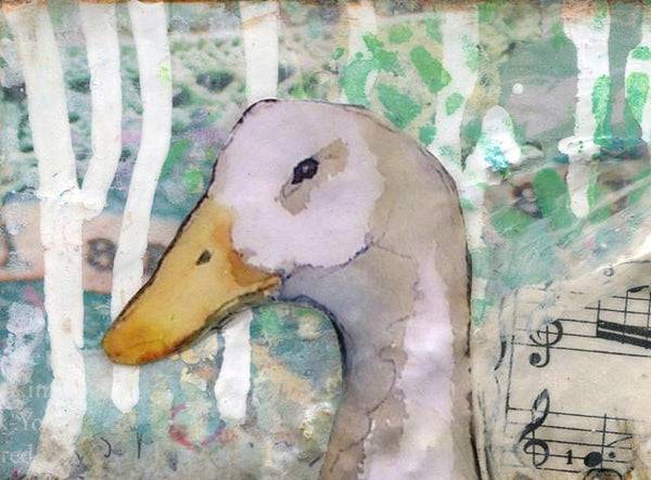 Duck Dandy, Original Mixed Media Art