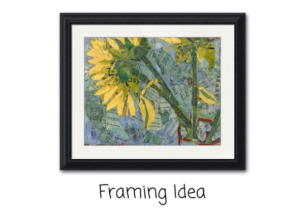 Sunflower Stems, Fine Art Print