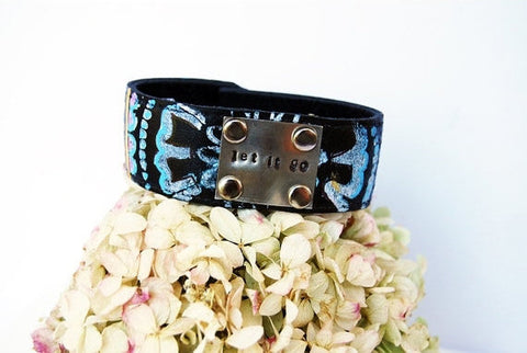 """Let It Go"" Leather Cuff"