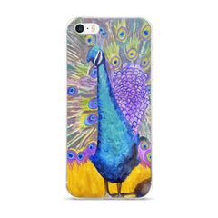 Dancing Peacock iPhone 5/5s/Se, 6/6s, 6/6s Plus Case