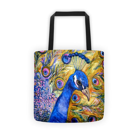Peacock Prince Tote bag