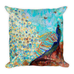 Peacock Paparazzi Square Pillow
