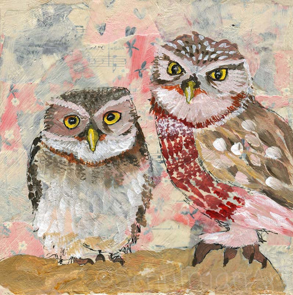Owl Prowl | Original Mixed Media Art on Canvas