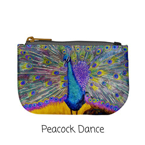 Printed Peacock Coin Purse