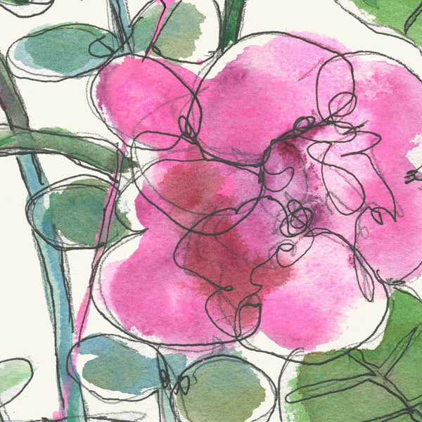 #07 Watercolor flowers 2 (pink roses) | Original Watercolor