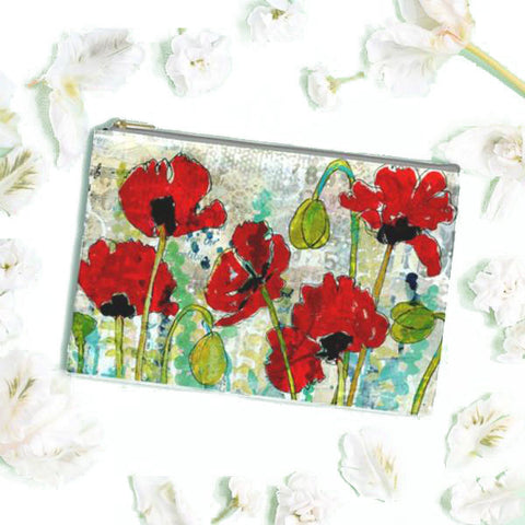 Poppy Garden Cosmetic Bag