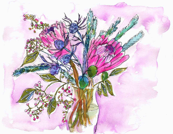 """Tropical Treats"", Original Watercolor Art 