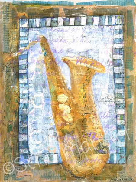 Sax Appeal, Original Mixed Media Art