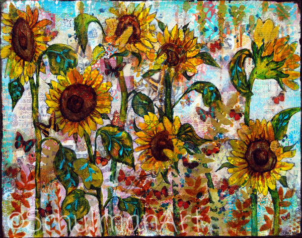 Sunflower Soiree, Fine Art Print