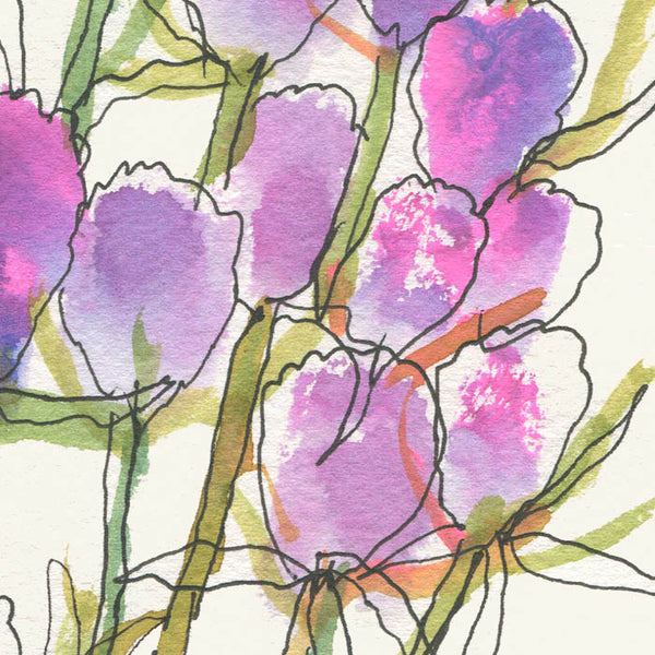Tropical Blues | #06 Watercolor flowers 1  Original Watercolor art