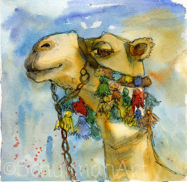 Mr. Bojangles, Original Watercolor Art