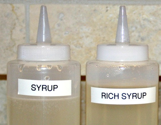 Photograph of the Imperium Razors Simple Syrup Bottles