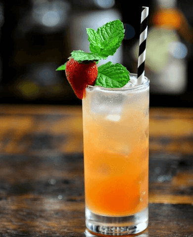 Strawberry Mint cocktail
