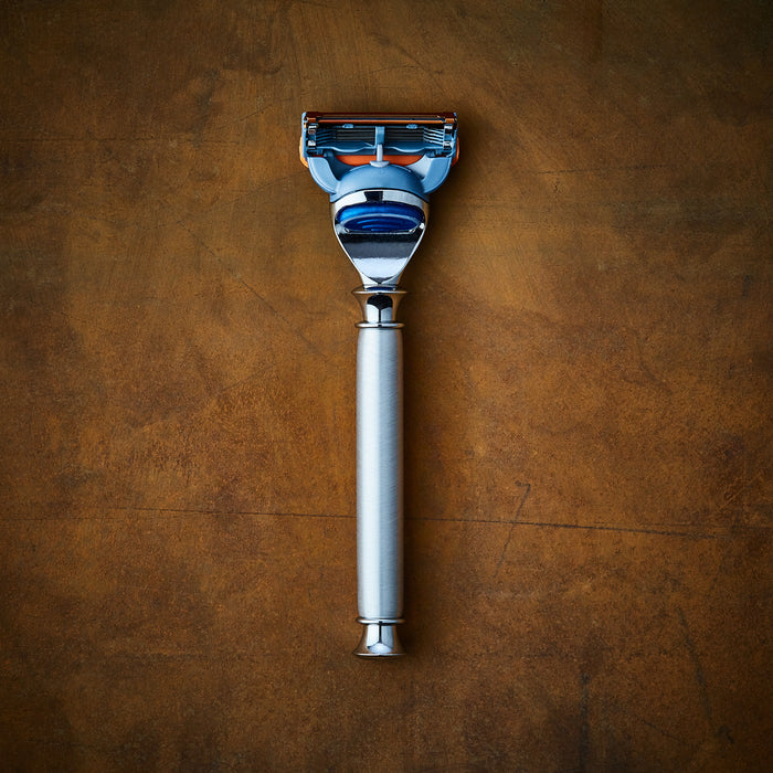 The Oslo Brushed Aluminum Razor