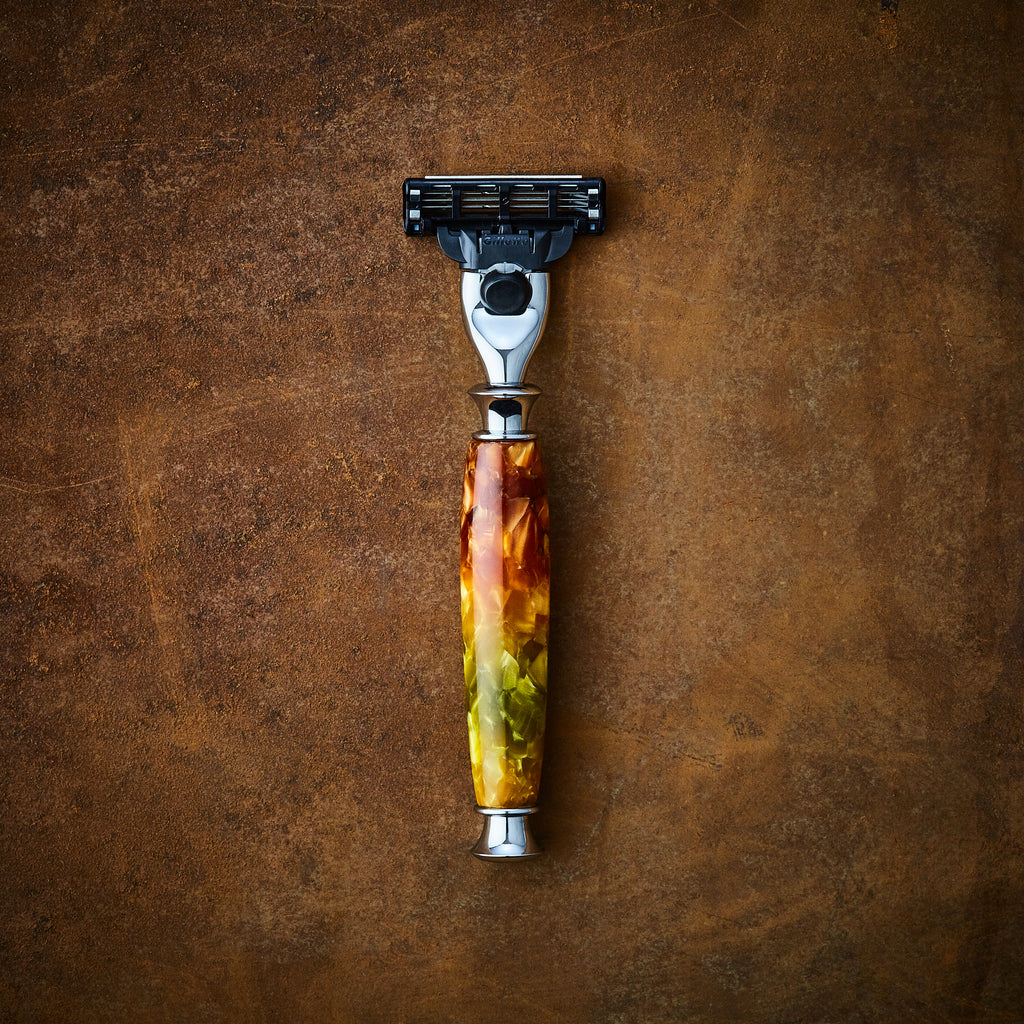 Custom shaving handmade razor for Gillette Mach3 and Gillette Venus blades