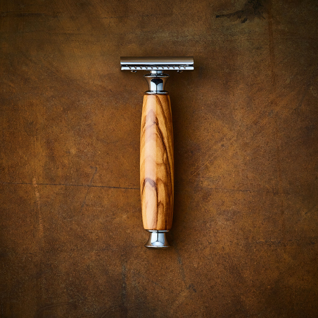 handmade razor double edge safety razor in Olive wood