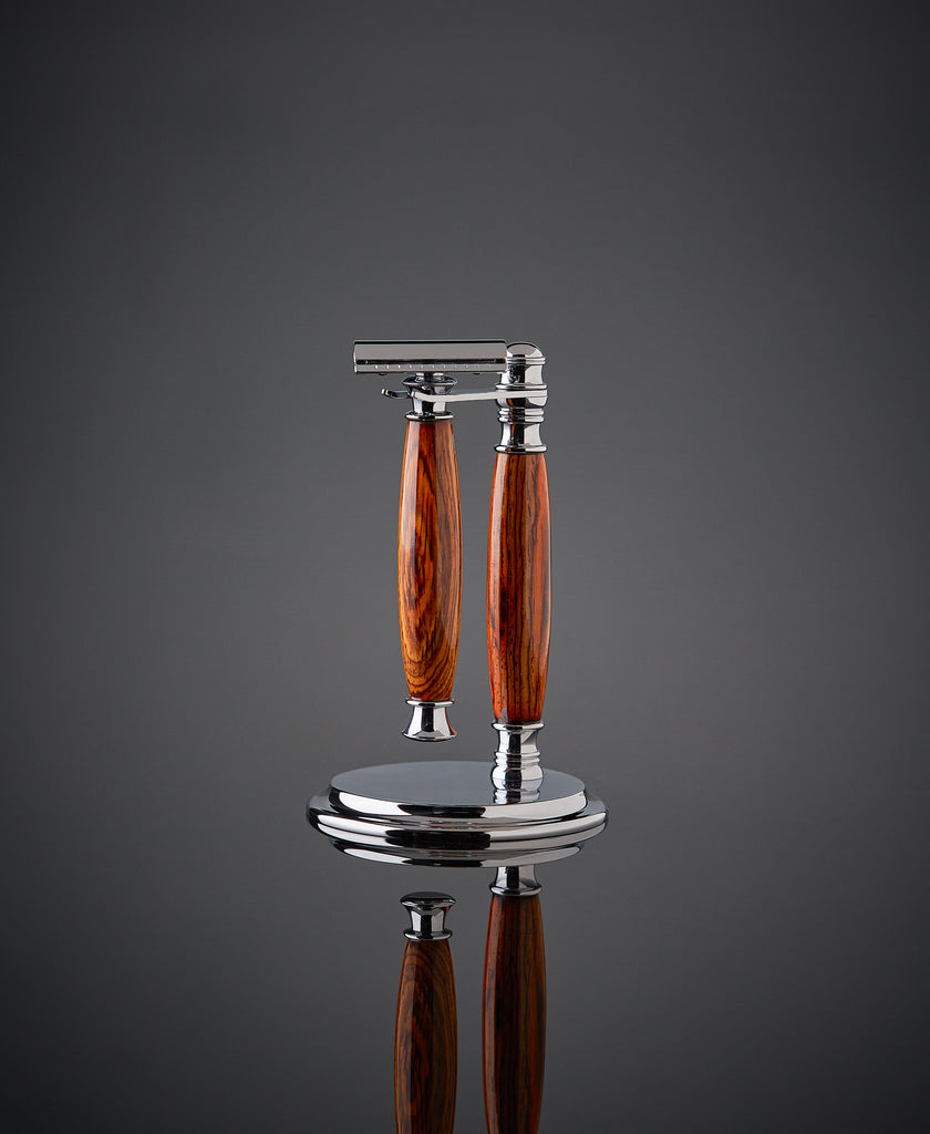 Rosewood shaving set for Double edge safety razor