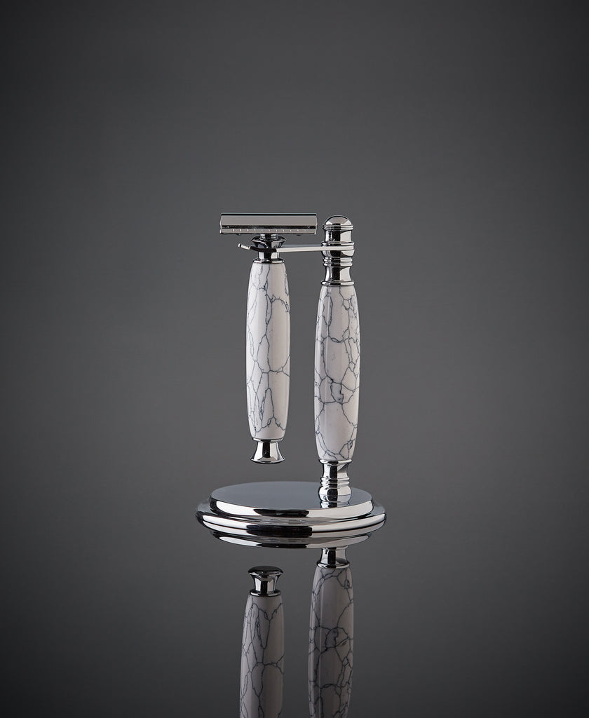 The White Marble Shave Set