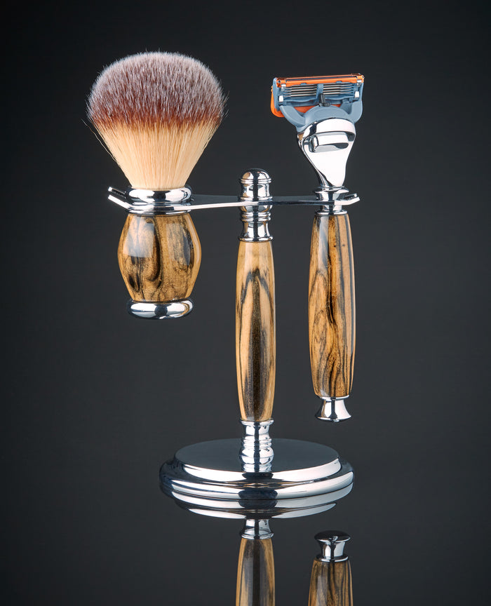 Shaving set with matching brush for Gillette Fusion