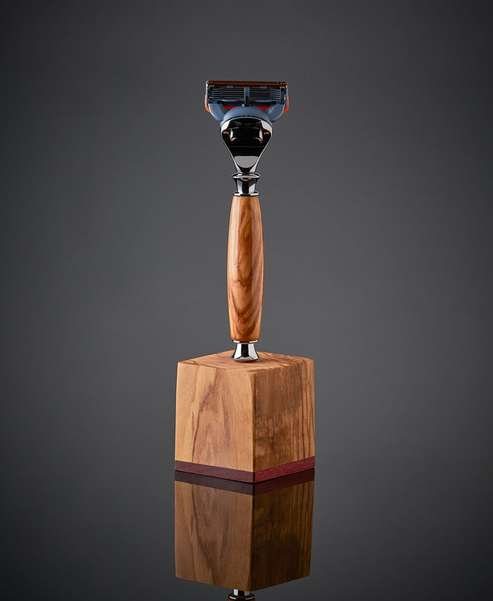 Wood razor for Gillette Fusion