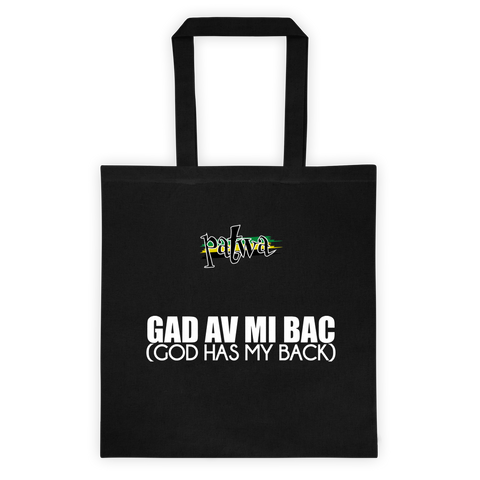 Gad av mi bac 12 Ounce Cotton Canvas Tote