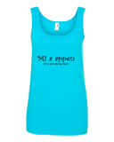 """Mi a appen"" Ladies Missy Fit Ringspun Tank Top"