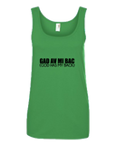 """God hav mi bac"" Ladies Missy Fit Ringspun Tank Top"