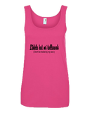 "'Likkle but mi tallawah"" Ladies Missy Fit Ringspun Tank Top"