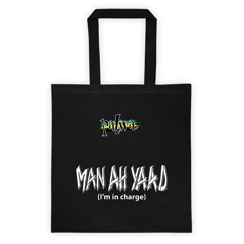 Man a yaad 6 Ounce Cotton Canvas Tote