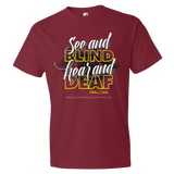 See and blind ear an deaf Premium Fitted Short Sleeve Crew