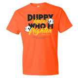 Duppy know who fi frighten Premium Fitted Short Sleeve Crew