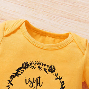 Infant Baby Sunflowers Leopard Print Clothing Set