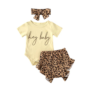 Letter Print Baby Clothes Set
