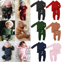 Load image into Gallery viewer, Unisex Infant Baby Long Sleeve Lace up Pants Outfits