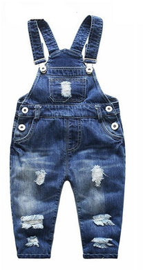 1 5T Kids Jeans Baby Rompers Spring Boys Girls Overalls Bebe Jumpsuit Pants Toddler Trousers Kids Clothes Children Clothing|Rompers
