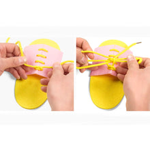 Load image into Gallery viewer, Non woven Shoelace Learning Toy