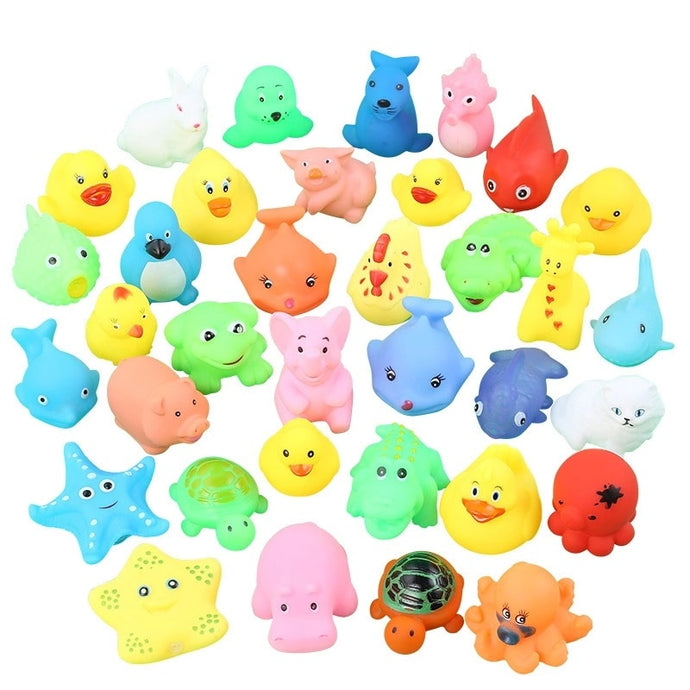 10 Pcs. Floating Animal Rubber Toy