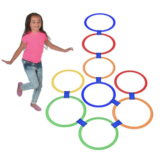 10Pcs Hopscotch Hoops Play Outdoor Sport Toys