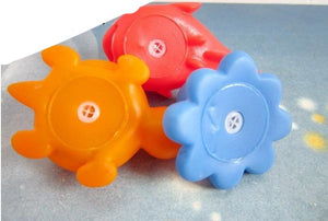 10Pcs/Set Soft Rubber Float Sound Bath Toys