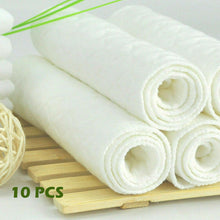 Load image into Gallery viewer, 10pcs/lot 3 Layers Ecological Cotton Soft and Breathable Diapers Nappy Liners