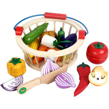 Load image into Gallery viewer, Wooden Magnetic Fruit Vegetable Cutting Toy