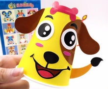 Load image into Gallery viewer, 12pcs/set Kids Animals DIY Handmade Paper Cups Sticker