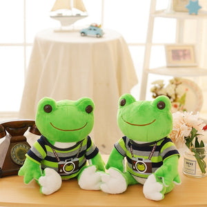 Lovely Dressed Frog Plush Stuffed Toy