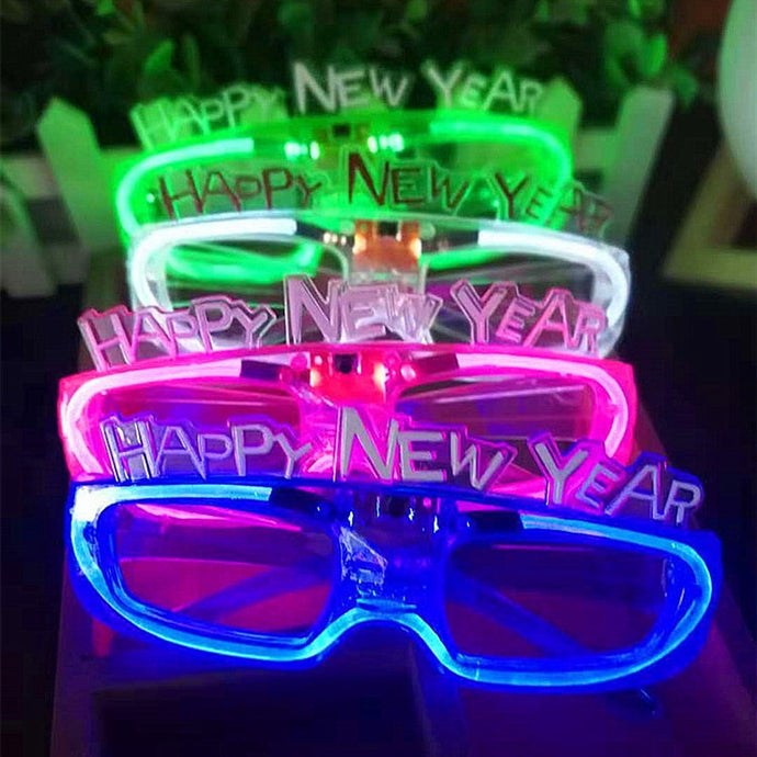 Happy New Year LED Flashing Glasses